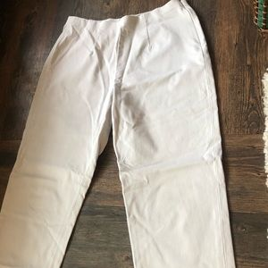Eddie Bauer Cream Ankle Pants